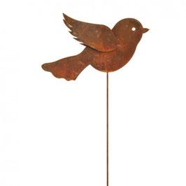 Gratis VERSAND - Metall Stecker Vogel, Höhe 60cm, Stablänge 50cm