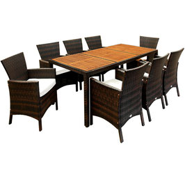 Poly Rattan Sitzgruppe Sitzgarnitur 8 +1