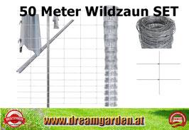 Wildzaun SET - 50 Meter x120 oder 150cm