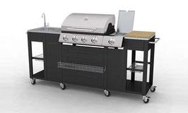 2 Modelle - GERADE und über ECK - Grillwagen BBQ Aussenküche Gartenküche Barbeque