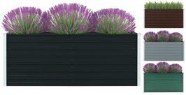 Hochbeet 160 x 80 x 77 cm Verzinkter Stahl grau, grün,braun oder anthrazit