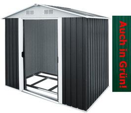 Metall Gerätehaus 257 x 205 x 177,5 cm  inkl. verzinktem Bodenkranz & Schiebetüren  - 2 FARBEN