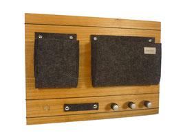 manufra - Schlüsselboard Holz Kirsche