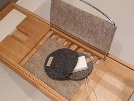 manufra Geschenkset: Seifentasche mit Seifenablage und Seife