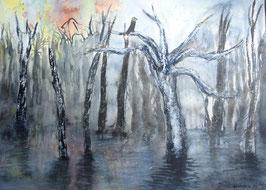 Galenbecker See, Aquarell. 36 x 51 cm