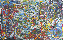 Schlüssel des Lebens, Acryl auf Leinwand, 116x76 cm