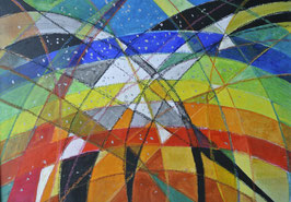 Zweifel, Wasserfarben auf Hartfaserplatte, 50x70 cm, gerahmt