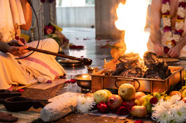 Homa - Vedic fire ceremony performed for you in a temple in India