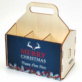 Merry Christmas - blauer Hintergrund