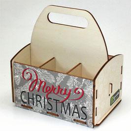 Merry Christmas - grauer Hintergrund