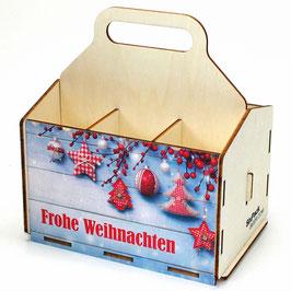 Frohe Weihnachten - blaue Bretterwand