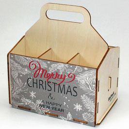 Merry Cristmas - grauer Hintergrund