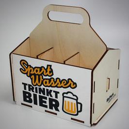 Spart Wasser, trinkt Bier