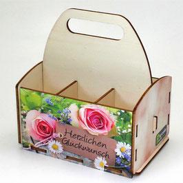 Herzlichen Glückwunsch - 2 Rosen