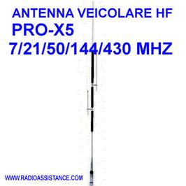 PROX-5 ANTENNA VEICOLARE MULTI BANDA 7 - 21-  50 - 144- 430 MHZ