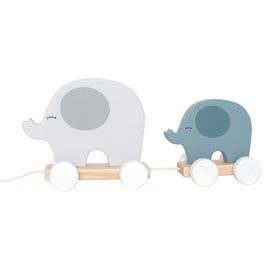 Zieh Elefant blau
