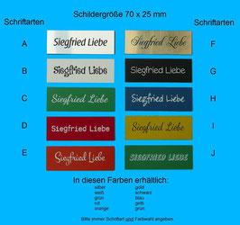 Türschild mit neuen Schriftarten