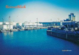 Ölhafen blau