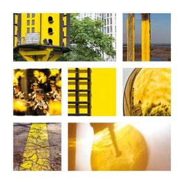 Grusskarte Gelb