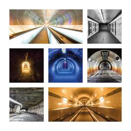 Grusskarte Tunnel