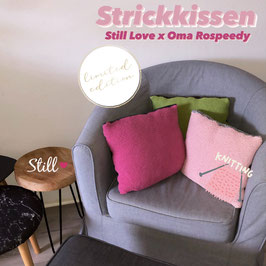Limited Edition - Strickkissen Still Love x Oma Rospeedy
