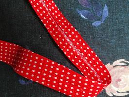 Schrägband Baumwolle rot dots 20mm