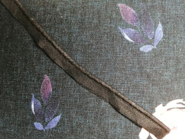 Paspel Baumwolle schwarz