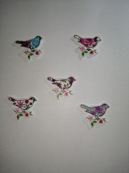 Holzknopf Vögel