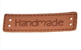Kunstleder Label handmade