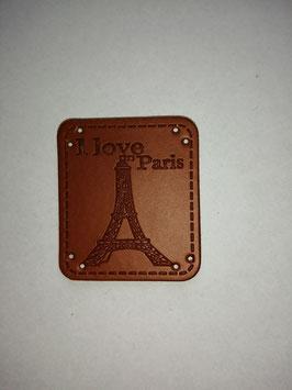 Kunstleder Label I love Paris