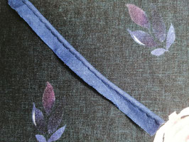 Paspel Baumwolle blau