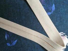 Schrägband Baumwolle beige 20mm