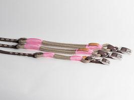 """Halsband mit Verstellung """"Tan with Pink"""""""