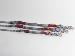 "Halsband mit Verstellung ""Grey with Aubergine"""