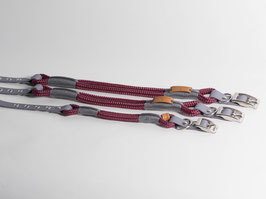 "Halsband mit Verstellung ""Aubergine with Grey"""