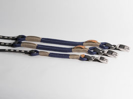 "Halsband mit Verstellung ""Dark Blue with Tan"""