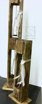Handgefertigte Holzsäulen