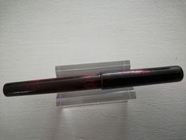 Stylo plume Pétrarque laqué Rouge & Noir, poudre de Nacre, sans Agrafe