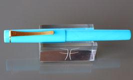 Stylo plume Pétrarque Résine Acrylique - Bleu section Blanche