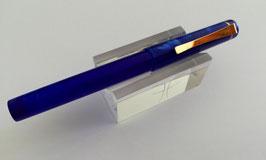 Stylo Pétrarque Acrylique Bleu - Acier ou Doré