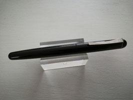 Stylo plume GEB bouts ronds laqué Noir, plume titane très souple