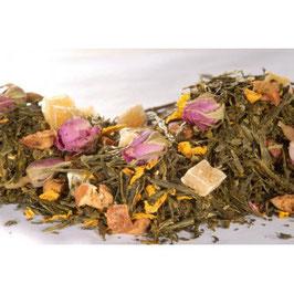 Sencha Granatapfel-Himbeere – grüner Tee aromatisiert
