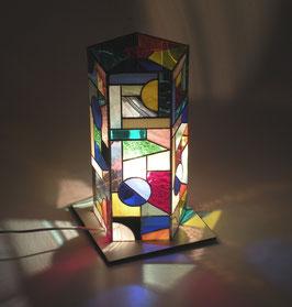 Lampe hexagonale 5côtés x 10cm  haut.32cm