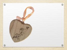 Holz Herz ohne Duftrichtung