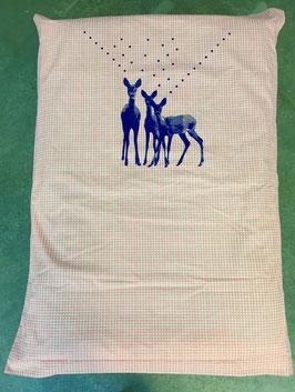 "Alpaka-Decke ""Bambi-Familie"""