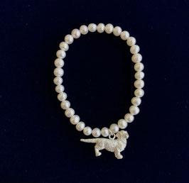 Dackel Waldi Perlenarmkette