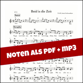 Boid is die Zeit - Noten + mp3