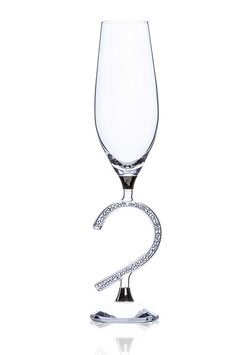CHAMPAGNERGLAS AFRODITE HEART 190