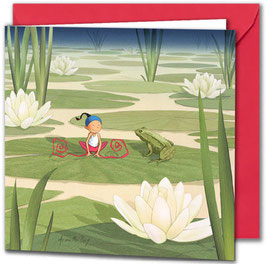 "Carte postale ""La grenouille""."