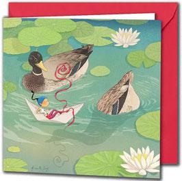 """Carte postale """"La mare aux canards""""."""